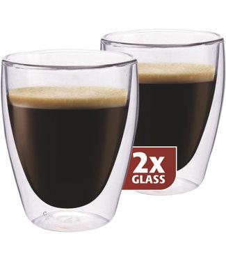 Maxxo Maxxo coffee thermo glass 2 stuks 235ml