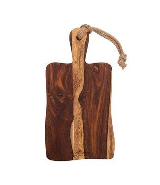 Bowls&Dishes Pure Rose Wood plank rustiek met handvat 35 cm