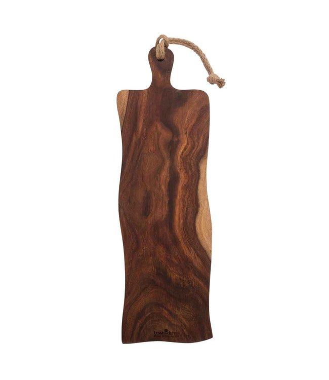 Pure Rose Wood Pure Rose Wood serveerplank rustiek handvat 59 cm