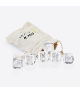 Point-Virgule Point-Virgule quartz crystal stones/ijsblokjes  6 st.