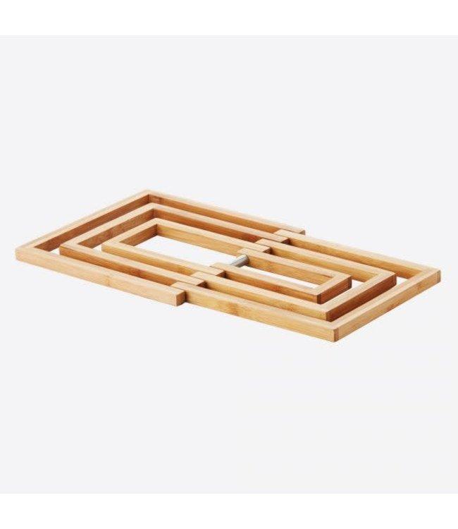 Point-Virgule uitvouwbare pannen onderzetter bamboe