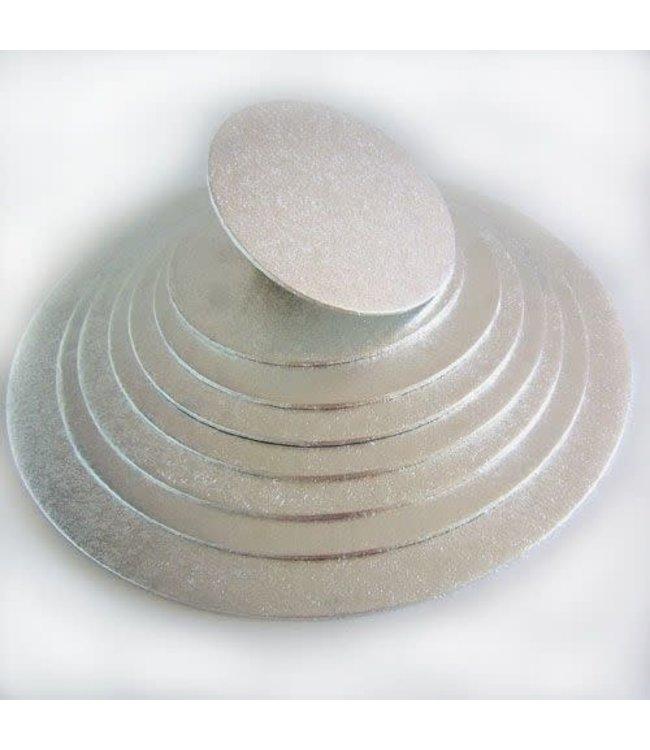 Funcakes Funcakes taartplateau rond dun 17 cm zilver
