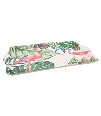 Cosy & Trendy dienblad bamboevezel tropical 45.5 x 28.4 cm