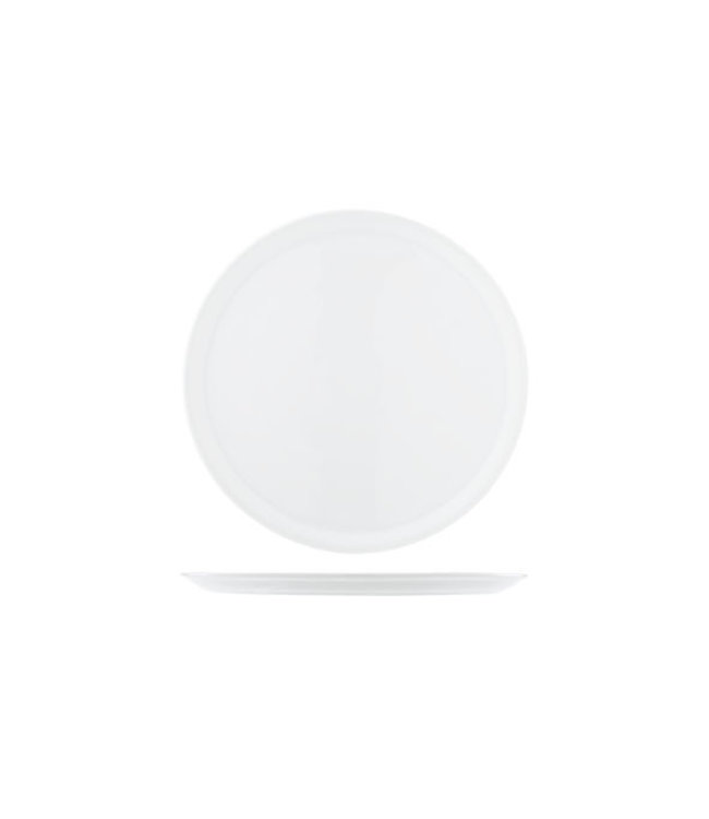 Saturnia pizzabord wit 33 cm