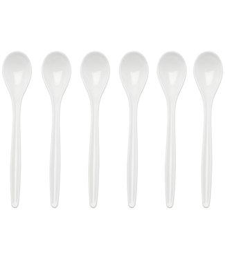 Westmark Westmark eierlepels 6 stuks kunststof wit