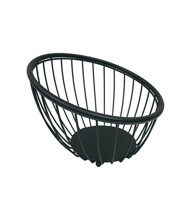 cosy & trendy Artex Black globe fruitmand zwart 28cm