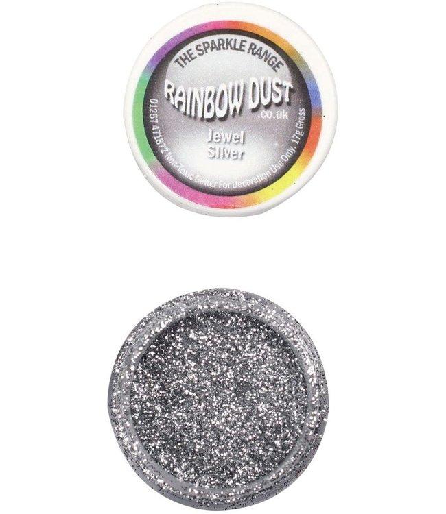 Rainbowdust Rainbowdust glitter silver non eatable