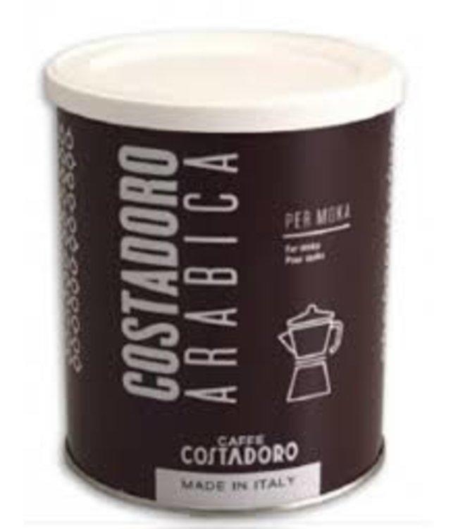 Costadoro Costadoro gemalen Arabica per moka 250 gr. blik