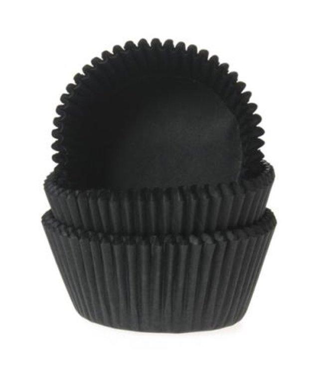 House of Marie House of Marie mini baking cups zwart 60 stuks