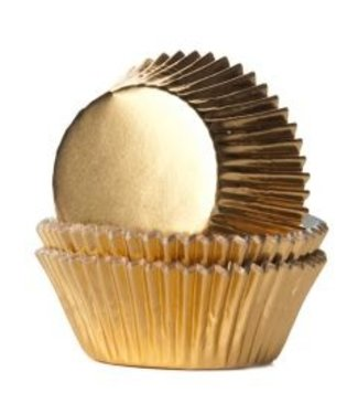 House of Marie House of Marie cupcake cups goud metalic 24 st.