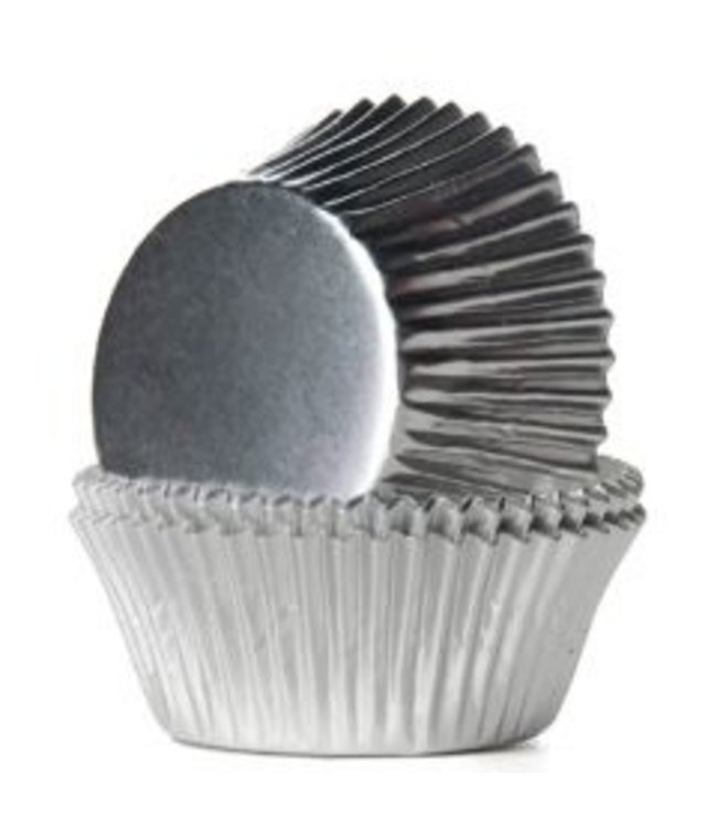 House of Marie House of Marie cupcake cups zilver metalic 24 st.