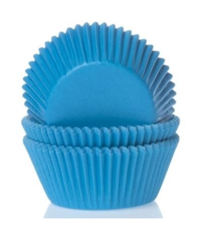 House of Marie House of Marie cupcake cups cyaan blauw 50 st.