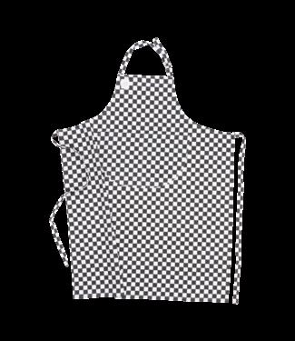 Inno Cuisinno Inno Cuisinno schort Chef 90 x 110cm zwart/wit blok