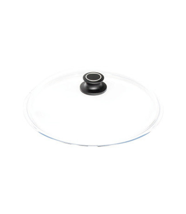 AMT AMT glazen deksel 24 cm zwarte knop