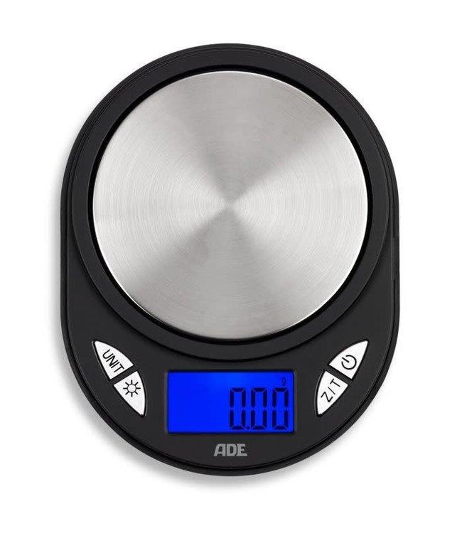 Ade dieet weegschaal Compact digitaal zwart rvs
