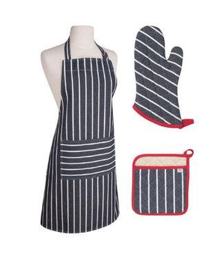 Now Designs Now Designs schort Butcher Stripe blauw