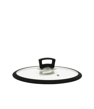 Habonne Habonne glasdeksel 30 cm siliconen rand
