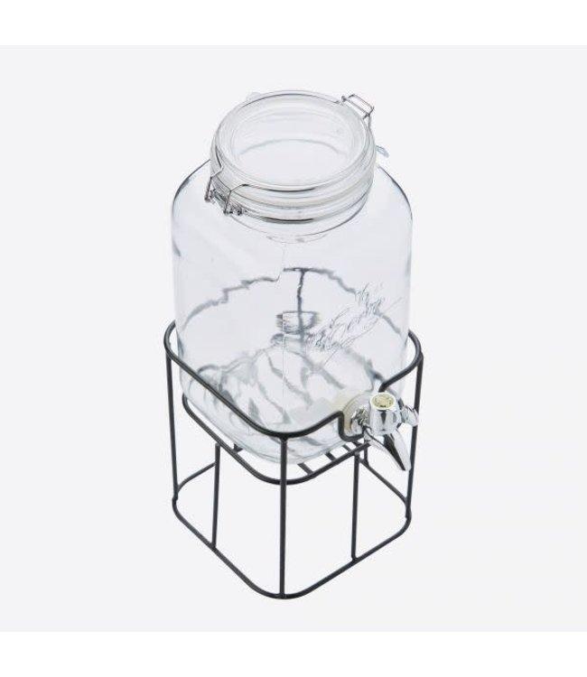 Point-Virgule vierkante drankdispencer met houder 3.6 ltr