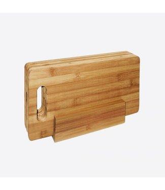 Point-Virgule Point Virgule ontbijtplankjes in houder bamboe 29x16 cm