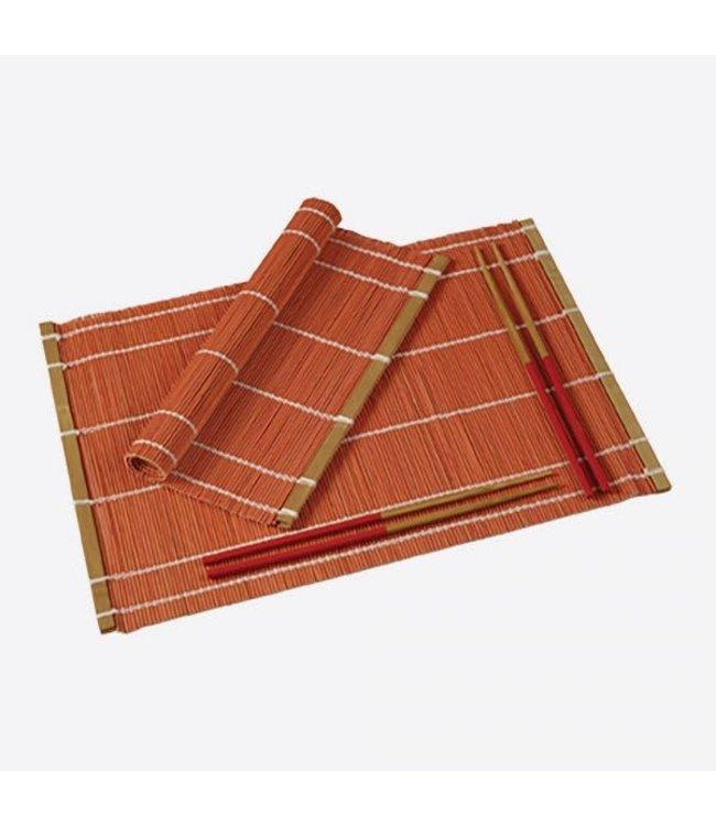 Typhoon Typhoon placemat + chopsticks rood set 2 st.