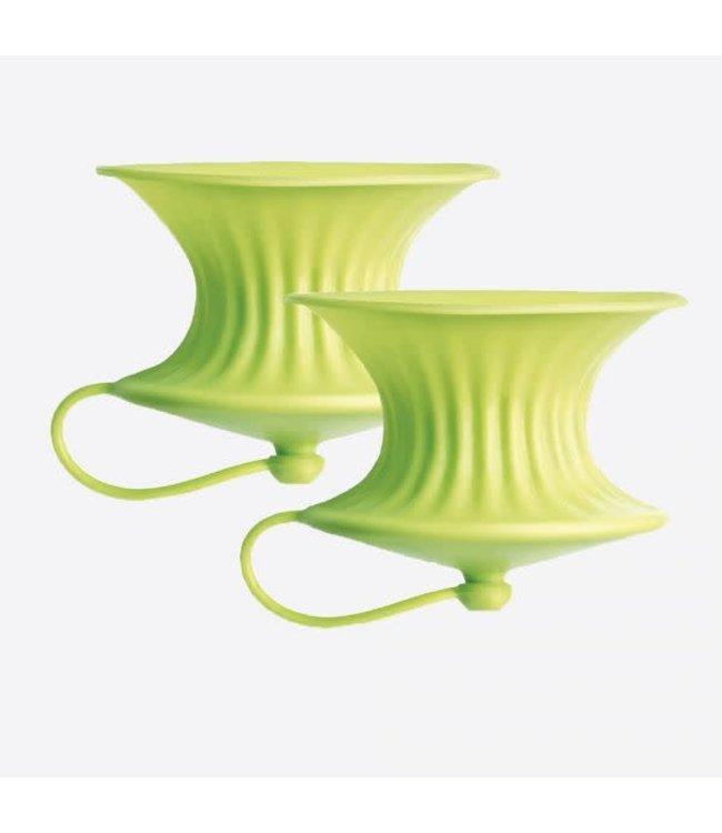 Lekue Lekue citruspers siliconen set 2 st. groen