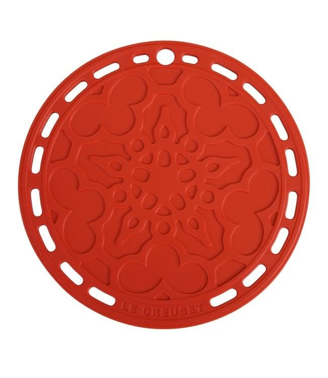 Le Creuset  siliconen onderzetter rood 20 cm