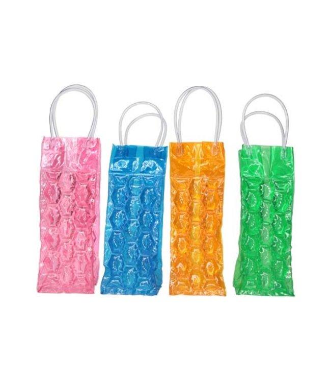 cosy & trendy Cosy & Trendy wijnkoeler zak PVC roze/oranje/blauw/groen