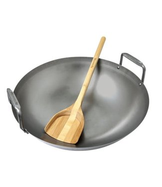 Big Green Egg Big Green Egg Carbon Steel wok XL, L met spatel