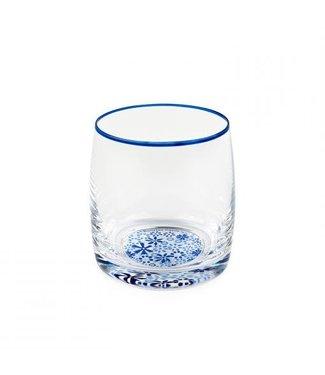 Bunzlau Castle Bunzlau waterglas Indigo Lace 290 ml h 9 cm