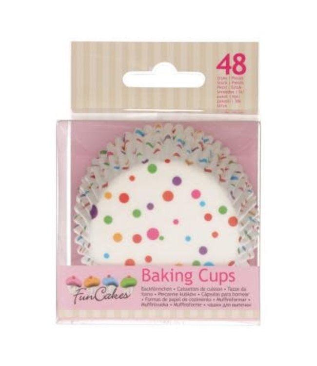 Funcakes Funcakes baking cups confetti 48 st.