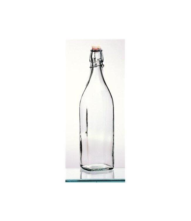 glazen  beugelfles 1 liter