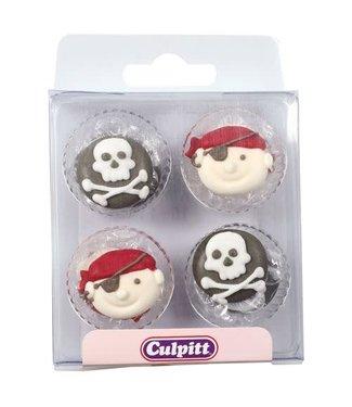 Culpitt Culpitt suikerdecoraties Piraten  12 stuks
