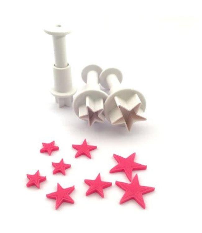 Dekofee  mini plungers stars set /3