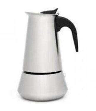 Leopold Vienna Trevi espressomaker rvs mat inductie 6 kops