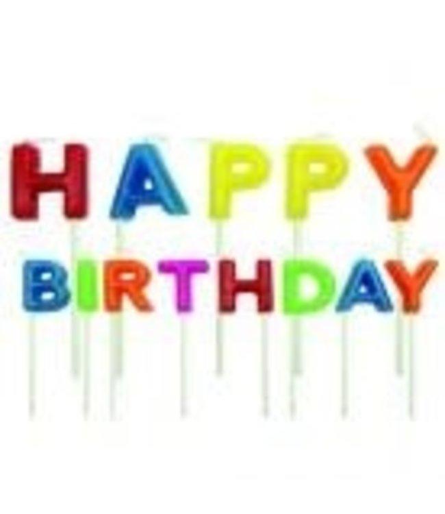 Wilton PME kaarsjes Happy Birthday set 13 st.
