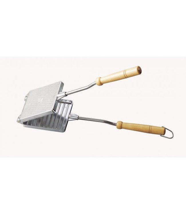 Inno Cuisinno Inno Cuisinno tosti ijzer aluminium houten greep