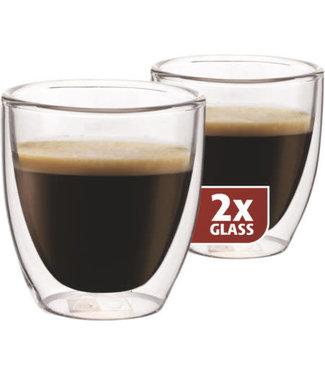 Maxxo Maxxo espresso thermo glass 2 stuks 80ml