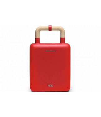 Ade Ade 2-in-1 wafel-/tosti ijzer rood