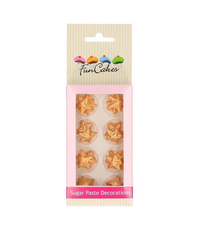Funcakes  fondant decoratie sterren goud set 24 st.