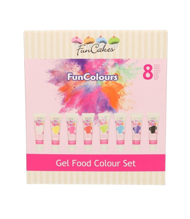 Funcakes Funcakes kleurstof gel colour set 8 st.