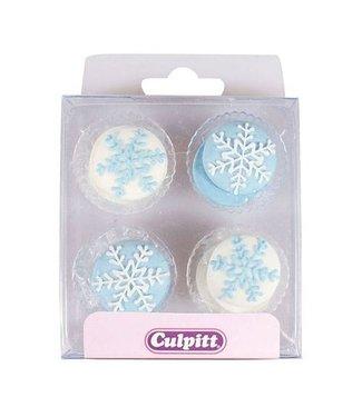 Culpitt Culpitt suikerdecoratie sneeuwvlokken 12 st(aktie)