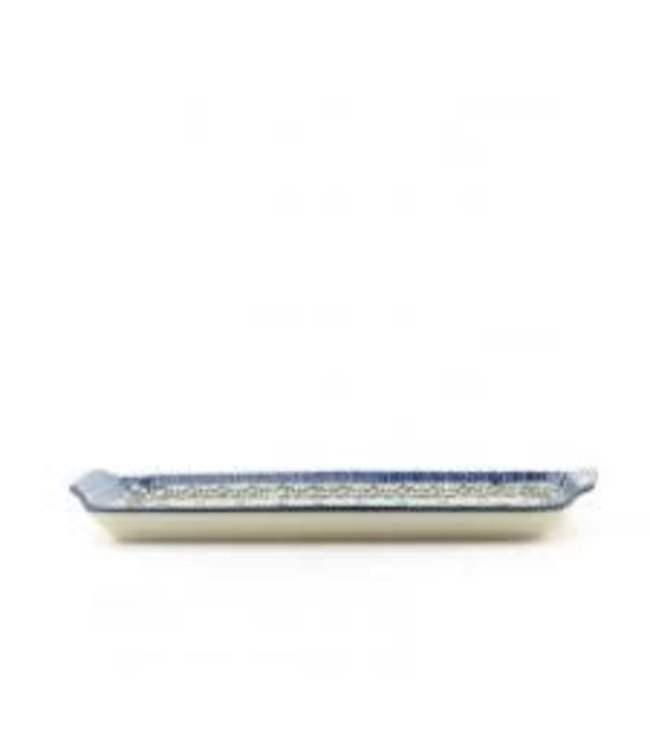 Bunzlau Castle cakeschaal/tray oblong Royal Blue
