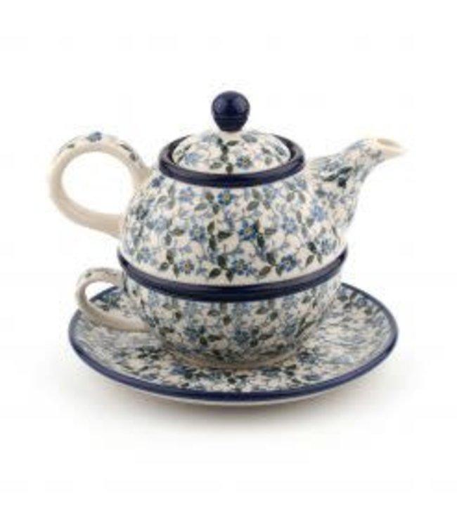 Bunzlau Castle tea for one theepotje/kop en schotel