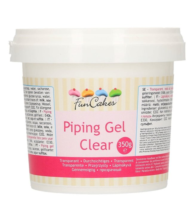 Funcakes Funcakes clear piping gel 350  gr.