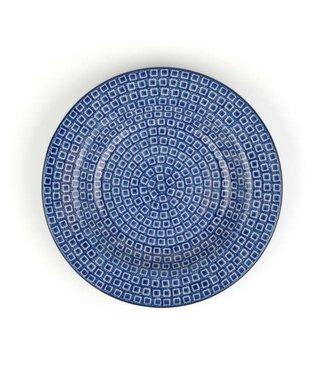 Bunzlau Castle Bunzlau diep soep bord Blue Diamond 23.5 cm 320 ml motief