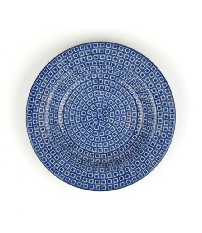 Bunzlau Castle diep soep bord Blue Diamond 23.5 cm 320 ml motief