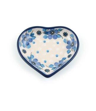 Bunzlau Castle Bunzlau Theetip hart  Blue White Love