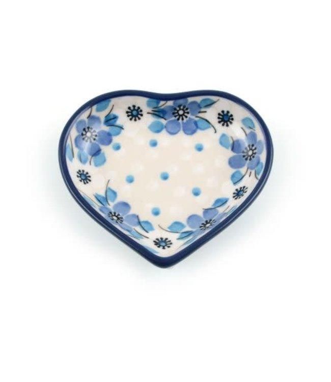 Bunzlau Castle Theetip hart  Blue White Love