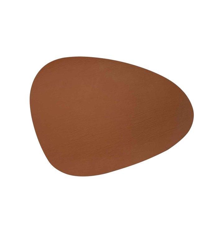 cosy & trendy placemat leer cognac organisch 39x30,5 cm