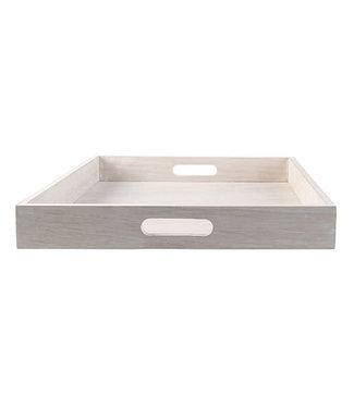 cosy & trendy Cosy & Trendy dienblad hout beige vierkant  36 cm h 5 cm